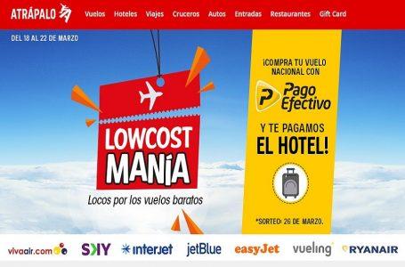 Atrápalo.pe lanza campaña con pasajes desde US$ 10 en aerolíneas 'low cost'