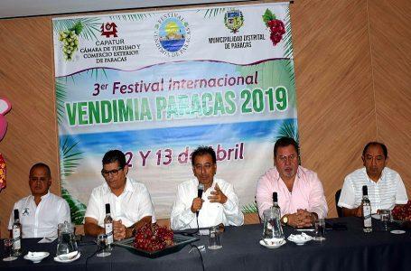 Paracas recibirá 10 mil visitantes por III Festival Internacional de la Vendimia 2019