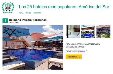 Tripadvisor: siete hoteles de Perú destacan entre los 25 mejores de Sudamérica