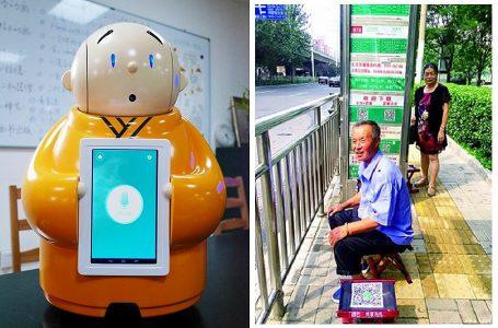 Robots operan como guías de turismo en histórica ciudad china