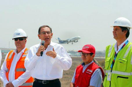 Presidente Vizcarra: aeropuerto Jorge Chávez será el más moderno de Sudamérica