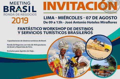 Agencias de viajes tendrán ingreso libre al Meeting Brasil del 7 de agosto