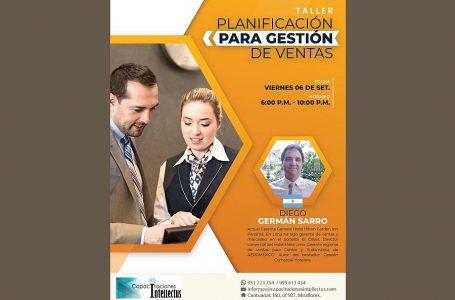 """Diego Sarro dictará taller """"Planificación para Gestión de Ventas"""" en setiembre"""