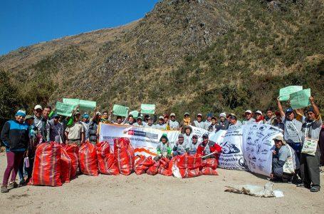 Machu Picchu: recolectan 400 kilos de residuos sólidos en la Red de Caminos Inca