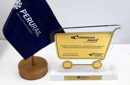 PeruRail fue elegido ganador de los eCommerce Awards Perú 2019