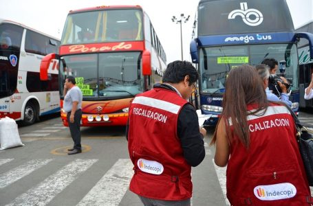 Indecopi capturó buses de empresas de transporte que incumplieron sanciones