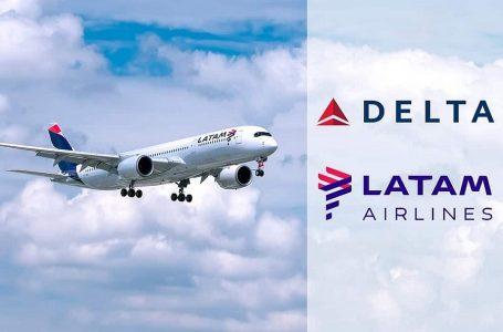 Latam firma nuevos códigos compartidos con Delta para filiales en Sudamérica
