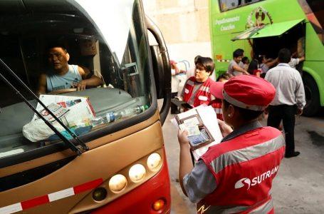 MTC reglamenta sanciones para infractores de tránsito y transporte terrestre