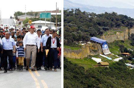 Presidente Vizcarra inauguró carretera a Kuélap, pero obras de Copesco siguen paralizadas