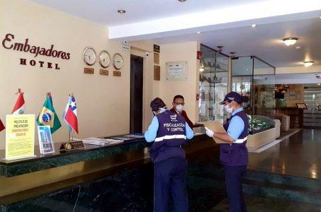 Fiscalizan 24 hoteles de Miraflores para verificar cumplimiento de la cuarentena