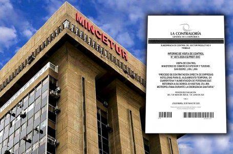 Contraloría detecta situaciones adversas en contratación de hoteles por el Mincetur [INFORME]