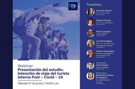 Turismo Cuida presenta estudio de intención de viaje del turista interno 'poscovid-19'