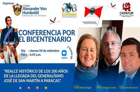 Organizan conferencia por bicentenario de la llegada del libertador José de San Martín a Paracas