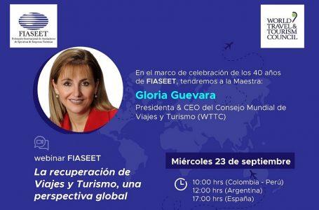 Presidenta de WTTC expondrá sobre futuro del turismo en webinar de FIASEET