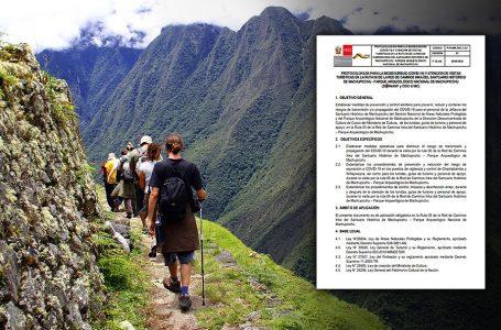 Camino Inca recibirá solo 120 visitantes por día a través de agencias, según protocolo