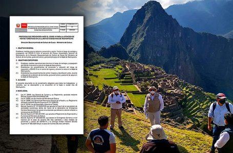 Machu Picchu: este es el protocolo sanitario que regirá desde el 1 de noviembre