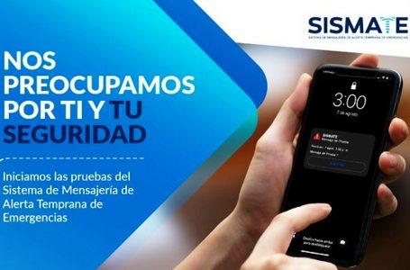 SISMATE: continúa el envío de mensaje de prueba a celulares en distritos de Lima