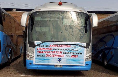 Empresas de transporte turístico exigen al MTC extender permiso para transportar personal