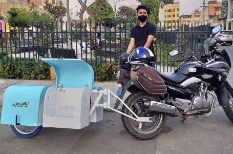 Diseñan innovador remolque con sistema desinfectante para motos que hacen delivery