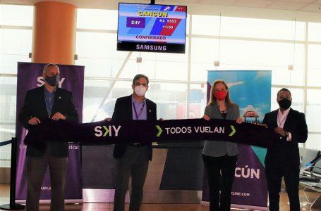 Sky Airline inaugura vuelos directos entre Lima y Cancún
