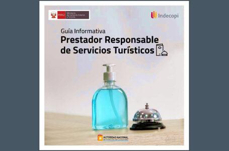 """Indecopi y Mincetur publican guía informativa """"Prestador Responsable de Servicios Turísticos"""""""