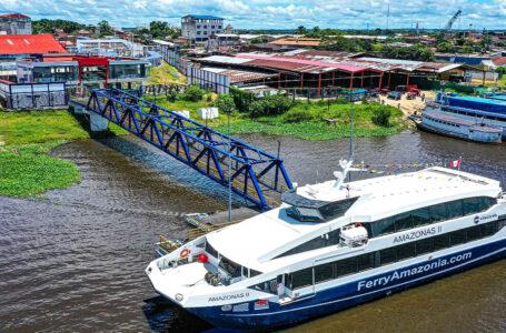 Ferry Amazonas II se prepara para iniciar operaciones en la ruta fluvial Iquitos – Santa Rosa