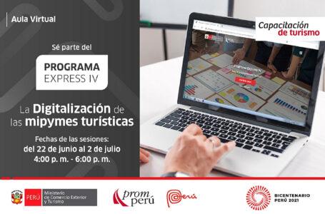 PromPerú realizará capacitación virtual sobre digitalización de mipymes turísticas