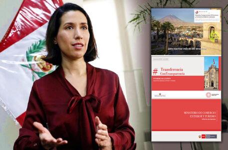 Mincetur presenta informe y rendición de cuentas de los ocho meses de gestión de Claudia Cornejo