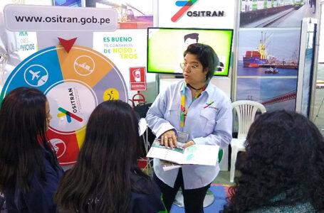 Ositran brinda información sobre infraestructura de transporte en feria del libro
